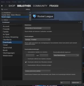 steam einstellungen downloads