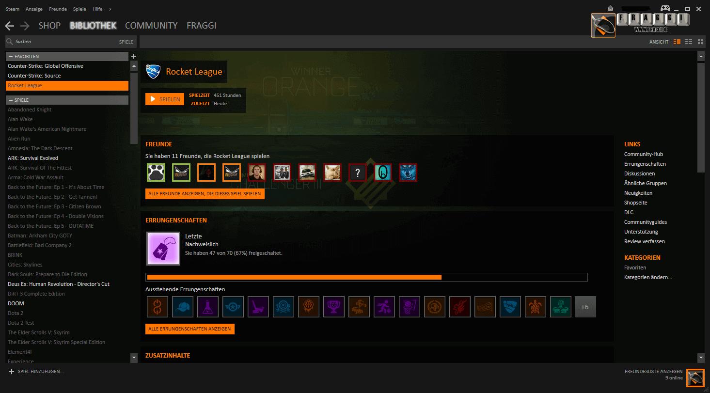 Steam account hintergrund andern