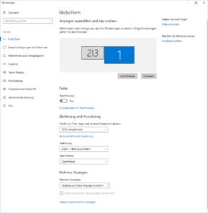 144 Hz einstellen Windows 10 Anzeigeneinstellungen