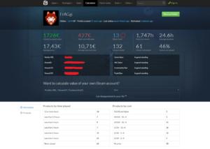 Steamcalculator Ergebnis Webseite - Steamaccountwert