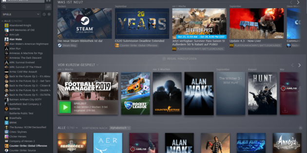 Neues Steam Client Update – 30-10-19
